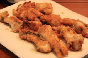 Fried catfish nuggets