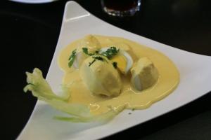 Papa a la Huancaina appetizer