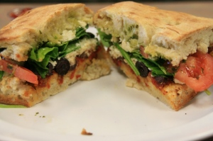 Greek vegetarian sandwich