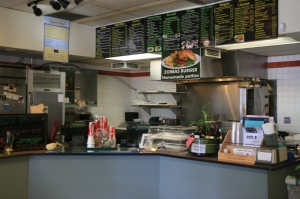 Zorba's front counter