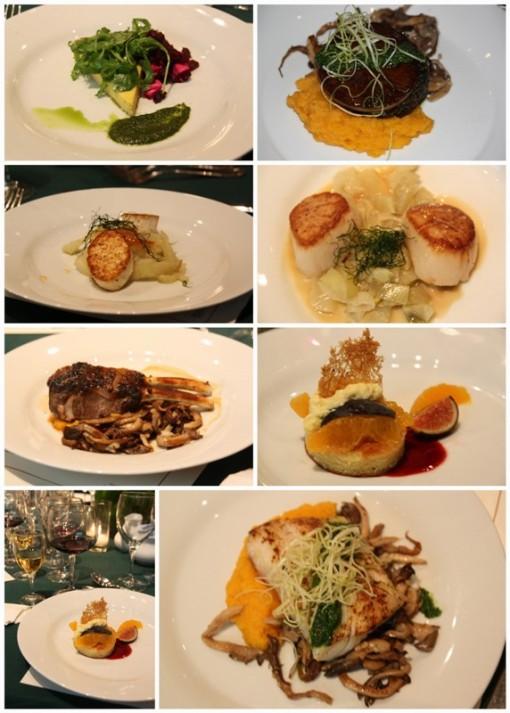 Gala dinner foods
