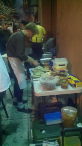 Man makes food