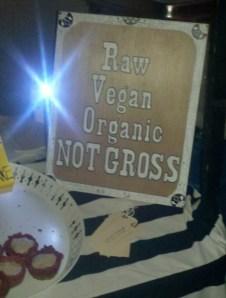 Vegan, not gross sign
