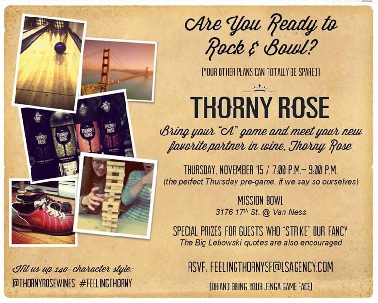 Thorny Rose Event Invite
