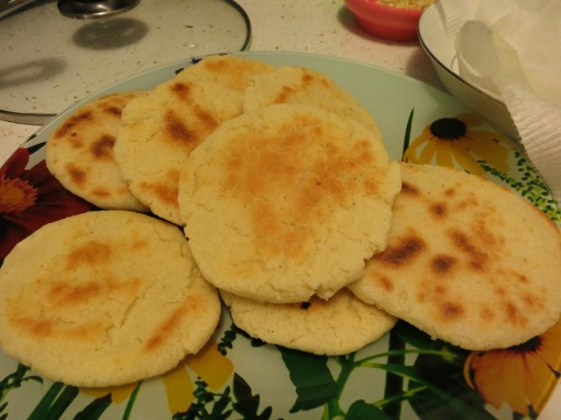 Arepas fresh out of the pan