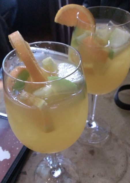 White wine sangria -- yum!