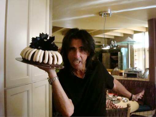 "Alice ""Bundt"" Cooper. He makes cake bad-ass."