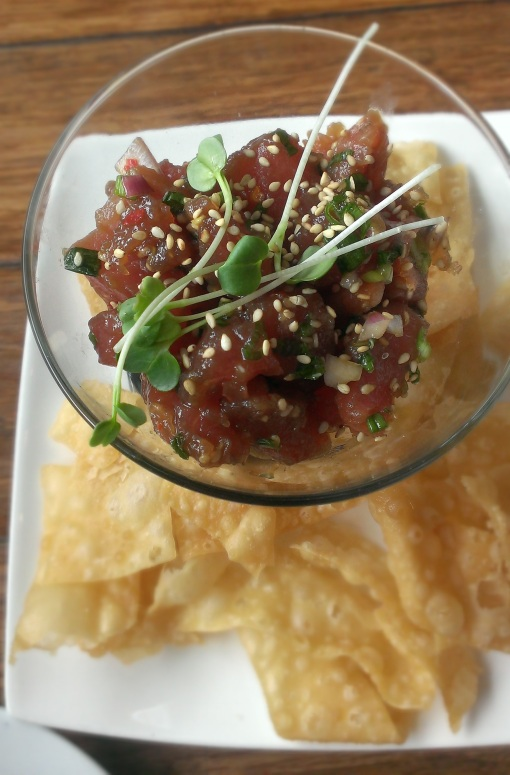 Traditional Poke was recommended to us by our server. Very tasty!
