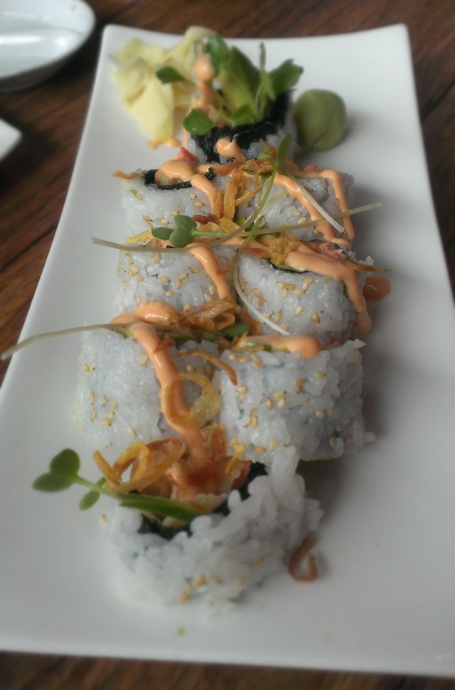 Firecracker Salmon roll, I believe... also good.