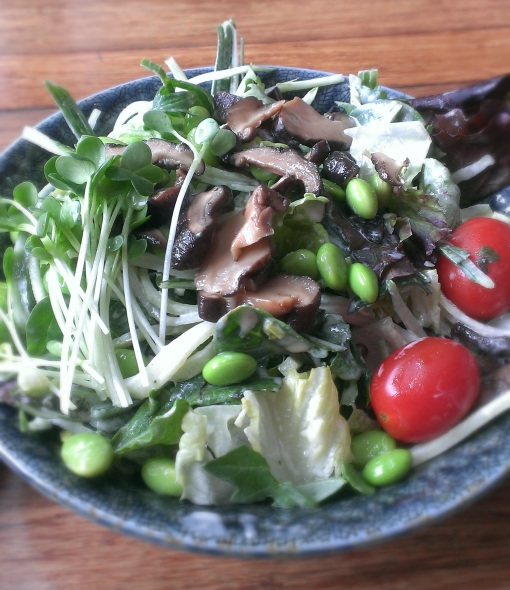 Starter salad -- signature miso dressing is money.