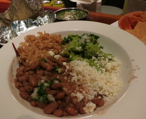 Vegetarian platter is not on the menu. Vegetarian platter is beans, cheese, rice, and guac. Vegetarian platter is amazing.