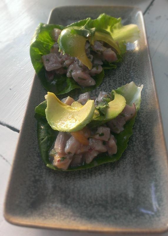 Coctel de Callos de Hacha - Diver Scallop, Tomato Gelée, Avocado, Cilantro - $6