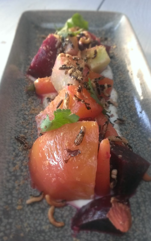 Betabeles y Chayote – Roasted Beets, Smoked Almonds, Habanero - $11