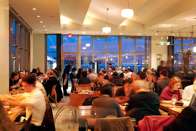 Inside The Slanted Door... image from their website: http://www.slanteddoor.com/images