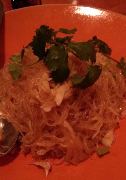 cellophane noodles with crab