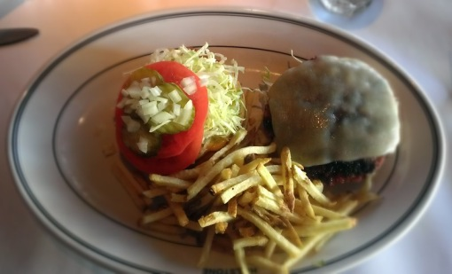 house made veggie burger from hillstone ($19)