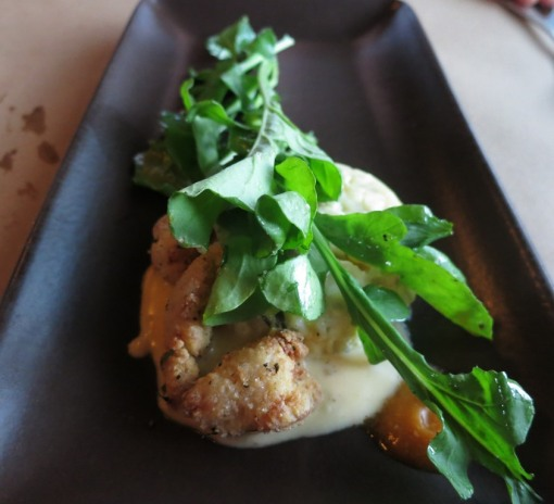 arugula and sweetbreads