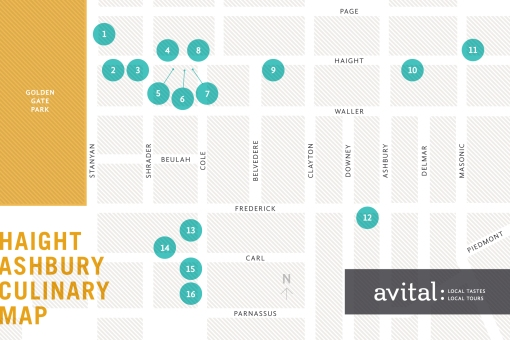 Avital Tours Haight Ashbury Culinary Map