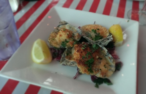 Baked oysters -- $10