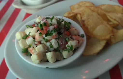 Shrimp and scallop ceviche -- $16