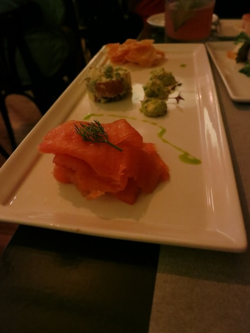 House Cured Salmon ($14) with avocado cream, dilled potato salad, crisps from Salt