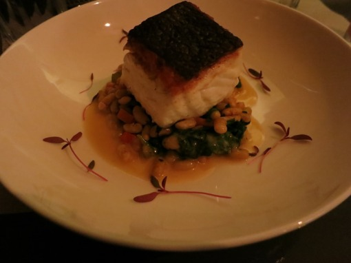 Pan-seared Local-caught Halibut ($25) from Salt